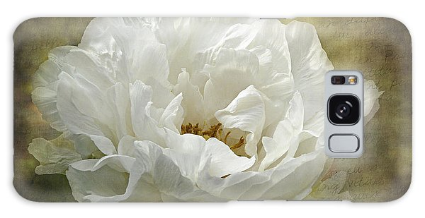 The White Peony Galaxy Case by Barbara Orenya