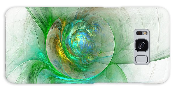 The Whole World In A Small Flower Galaxy Case by Sipo Liimatainen