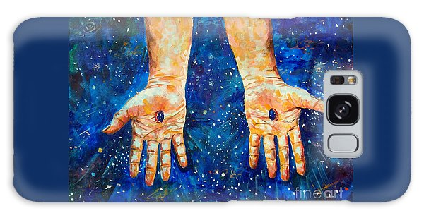 The Whole World In His Hands Galaxy Case by Lou Ann Bagnall