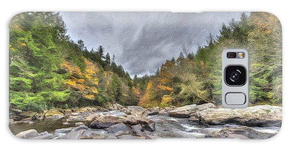 The Wild River Oil Painting Galaxy Case