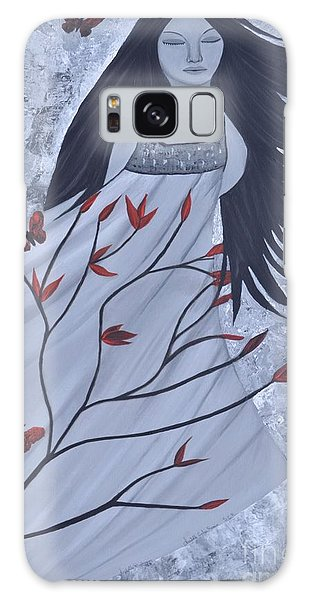 The Wind Of The Spirit Acrylic Painting By Saribelle Rodriguez Galaxy Case
