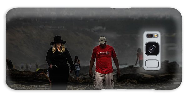 The Witch On The Beach Galaxy Case by Menachem Ganon