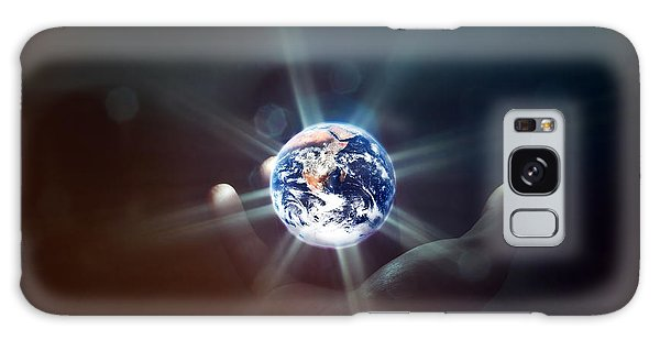 The World In The Palm Of Your Hand Galaxy Case