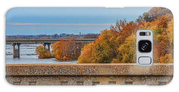 The Wright's Ferry Bridge In Fall Galaxy Case