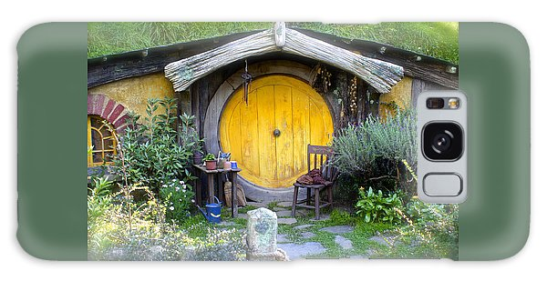 The Yellow Hobbit Door Galaxy Case by Venetia Featherstone-Witty