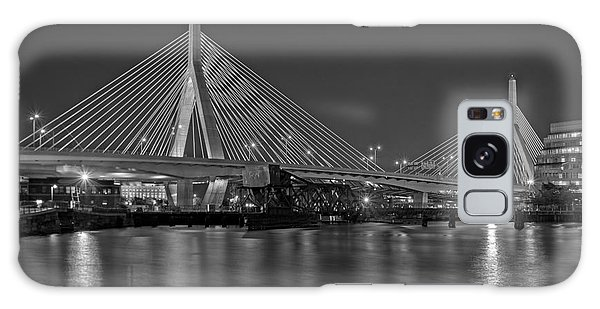 Galaxy Case featuring the photograph The Zakim Bridge Bw by Susan Candelario