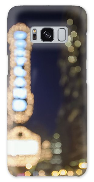 Theater Marquee Lights On Broadway Bokeh Background Galaxy Case by JPLDesigns