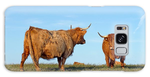 There Can Be Only One Highland Cow Galaxy Case