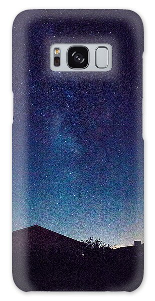 There's A Galaxy Over My House Galaxy Case by Carolina Liechtenstein
