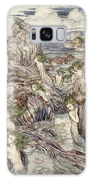 Mythological Galaxy Case - They Have Sea-green Hair, Illustration by Arthur Rackham