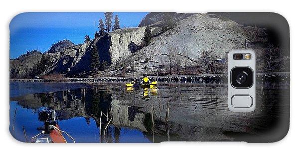 Thin Ice Kayaking Skaha Lake Galaxy Case by Guy Hoffman
