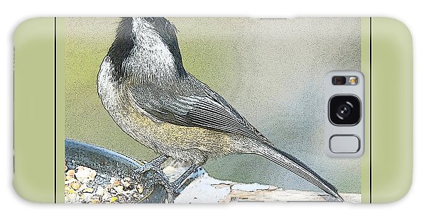 Galaxy Case - Things Are Looking Up Chickadee Print by A Gurmankin