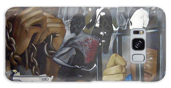 Think Black Man Galaxy Case by Chelle Brantley