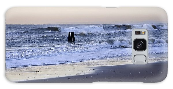 Think Metal - Morning Ocean Rockaways Galaxy Case by Maureen E Ritter