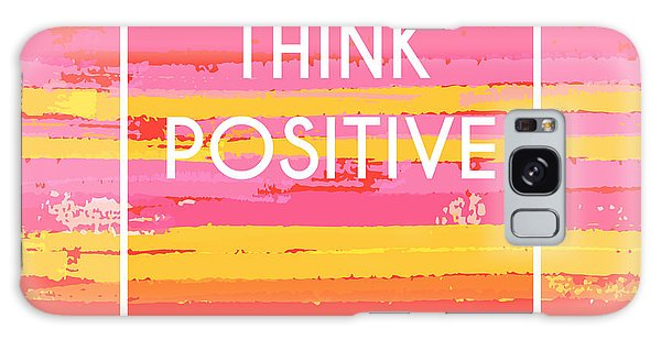 Thought Galaxy Case - Think Positive Motivation Poster by Artulina