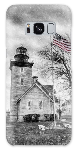 Thirty Mile Point Light Galaxy Case