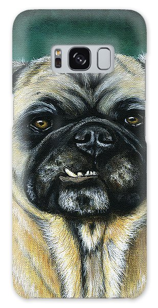 This Is My Happy Face - Pug Dog Painting Galaxy Case