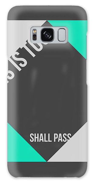 Quote Galaxy Case - This Is Too Shall Pass Poster by Naxart Studio