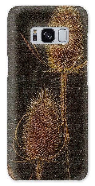 Thistles Galaxy Case by Hanny Heim
