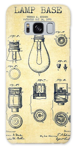 Light Galaxy Case - Thomas Edison Lamp Base Patent From 1890 - Vintage by Aged Pixel
