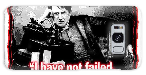 Thomas Edison On Failure Galaxy Case