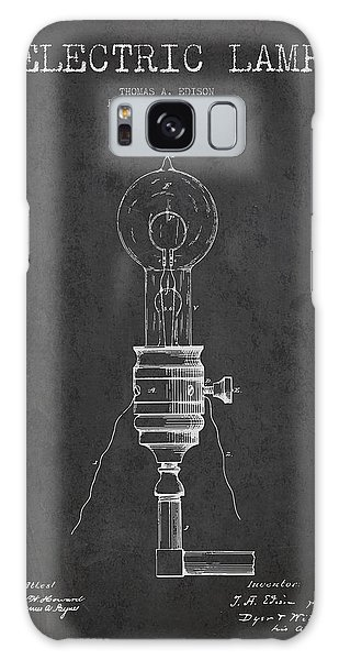 Light Galaxy Case - Thomas Edison Vintage Electric Lamp Patent From 1882 - Dark by Aged Pixel