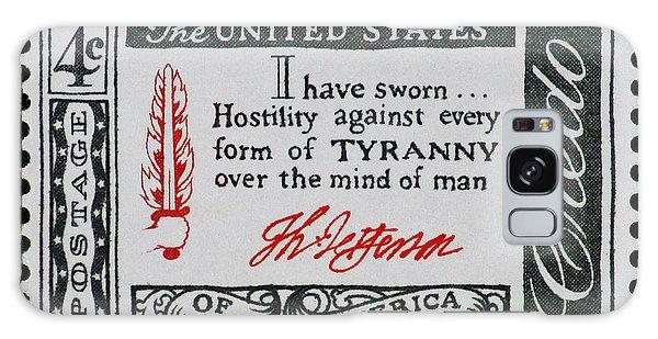 Thomas Jefferson American Credo Vintage Postage Stamp Print Galaxy Case