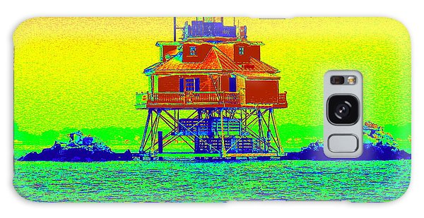 Thomas Point Lighthouse Galaxy Case