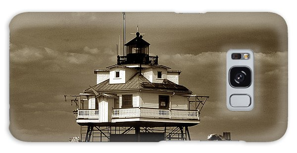 Thomas Point Shoal Lighthouse Sepia Galaxy Case