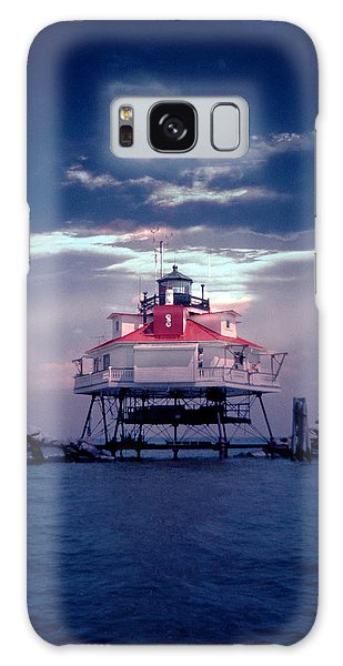 Thomas Point Shoal Lighthouse Galaxy Case by Skip Willits