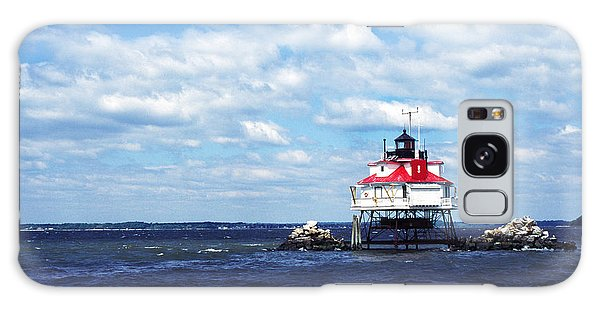 Thomas Point Shoal Lighthouse Galaxy Case