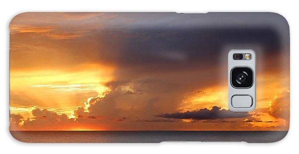 Threatening Sunset Galaxy Case by Mariarosa Rockefeller