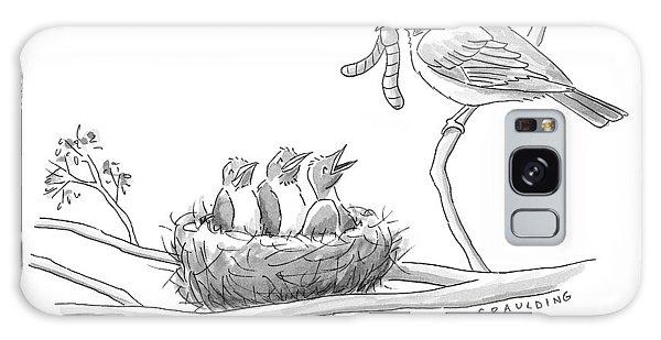 Three Baby Birds In A Nest Talk To A Grown Bird Galaxy S8 Case