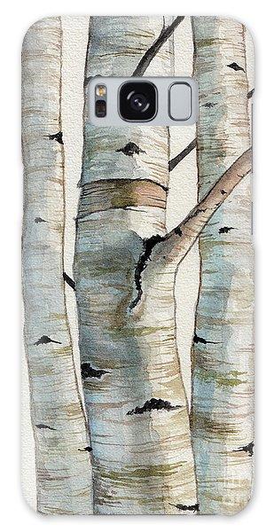 Three Birch Trees Galaxy Case