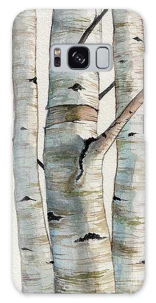 Three Birch Trees Galaxy Case