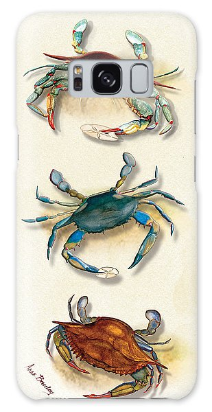 Three Blue Crabs Galaxy Case