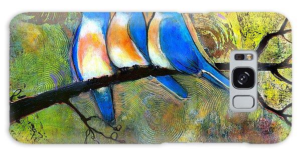 Bluebird Galaxy S8 Case - Three Little Birds - Bluebirds by Blenda Studio