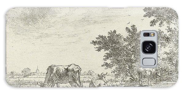 Pasture Galaxy Case - Three Cows In Pasture, John Janson by John Janson