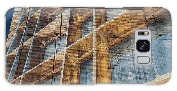 Three Dimensional Optical Illusions - Trompe L'oeil On A Brick Wall Galaxy Case