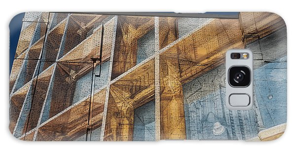 Three Dimensional Optical Illusions - Trompe L'oeil On A Brick Wall Galaxy Case