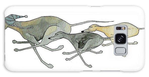 Sighthound Galaxy Case - Three Dogs Illustration by Richard Williamson