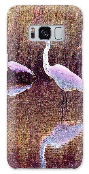 Three Egrets Galaxy Case