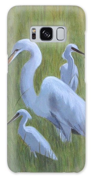 Three Egrets  Galaxy Case