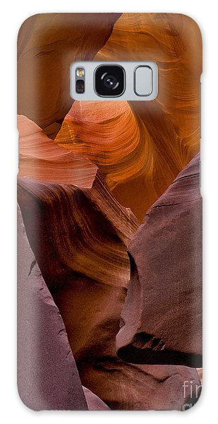 Galaxy Case featuring the photograph Three Faces In Sandstone by Mae Wertz
