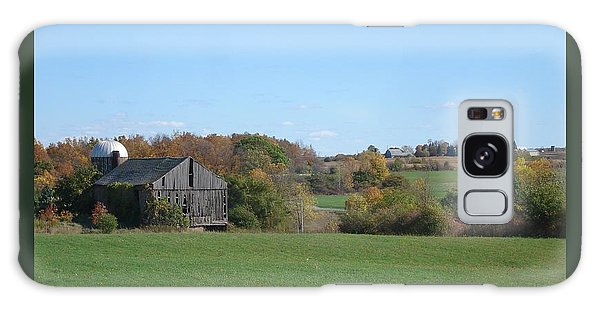 Three Farms In Autumn Galaxy Case by Patricia Overmoyer