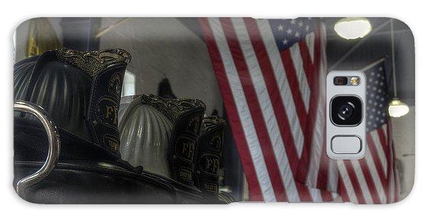 Three Firefighter Helmets Galaxy Case