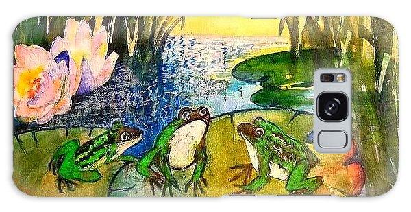 Three Frogs Galaxy Case