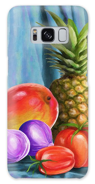 Three Fruits And A Vegetable Galaxy Case by Anthony Mwangi