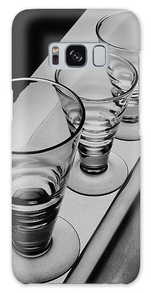Three Glasses On A Shelf Galaxy Case