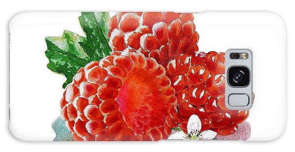 Three Happy Raspberries Galaxy Case by Irina Sztukowski